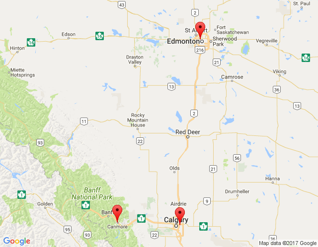 Map of Edmonton Showroom